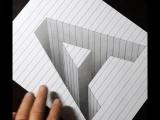 3д рисунок карандашом.