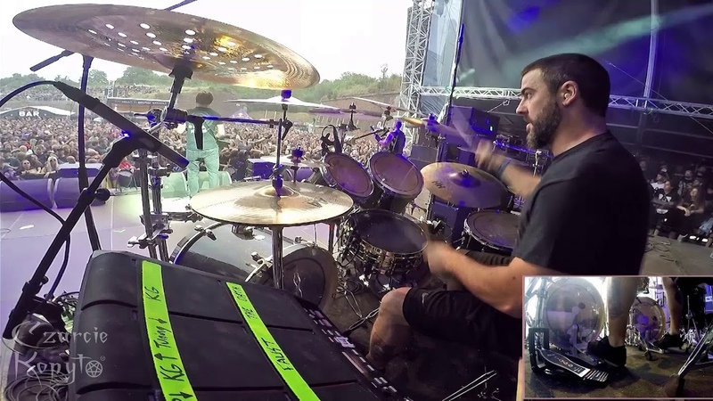 Adam Jarvis of MISERY INDEX - The Great Depression - drum cam on Brutal Assault 2018