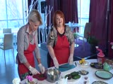 Элементы питания (крабовый салат и сасси-напиток)