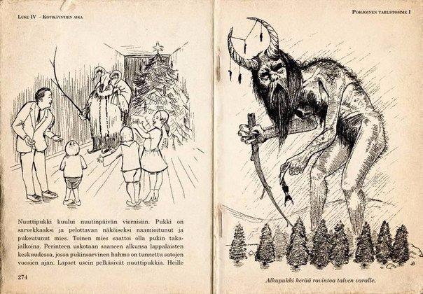 Йоулупукк Мало кто знает, но добрый рождественский дед, который живёт в Лапландии, на самом деле является довольно сомнительным персонажем в мифологии. Одно из его исторических названий -