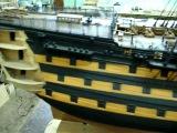 Английский 100-пушечный парусный корабль.