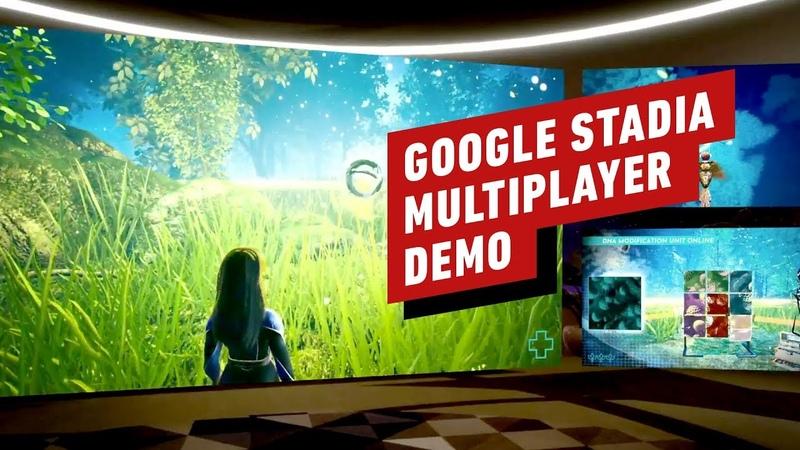 Google Stadia Multiplayer Demo - GDC 2019