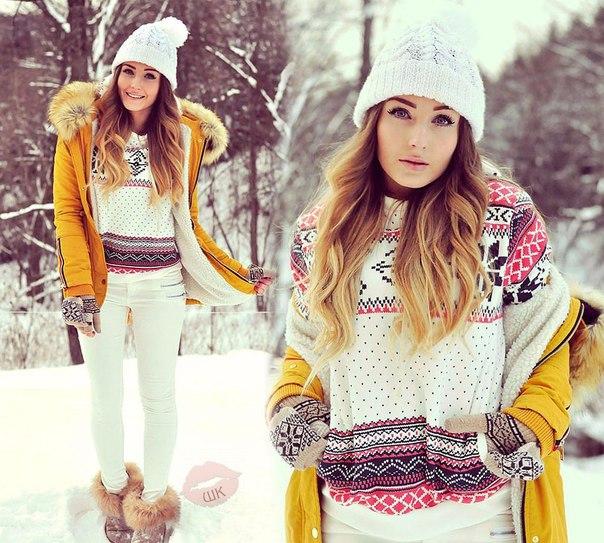 Модная одежда зима фото