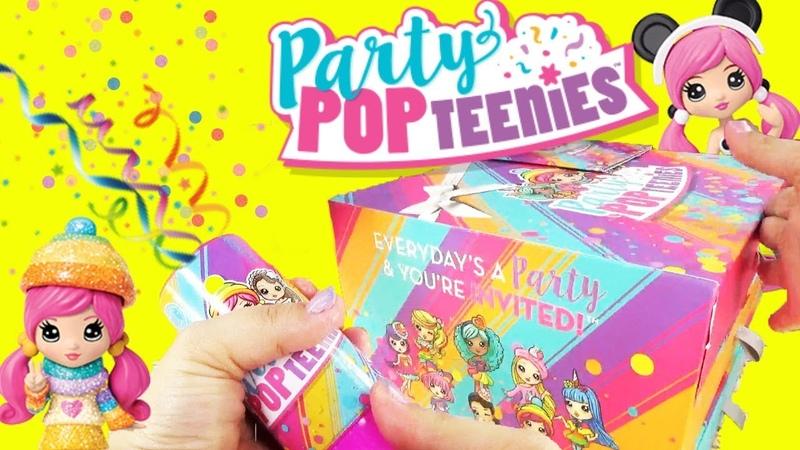 Party Pop Teenies Party Popper Surprise Toys with LOL Surprise Unicorn and Frozen's Elsa