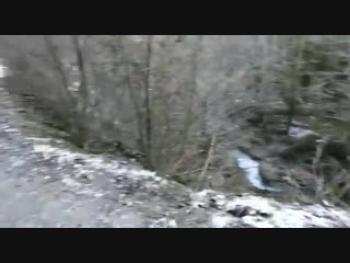 В Абхазии БТР упал в пропасть. Погибли трое