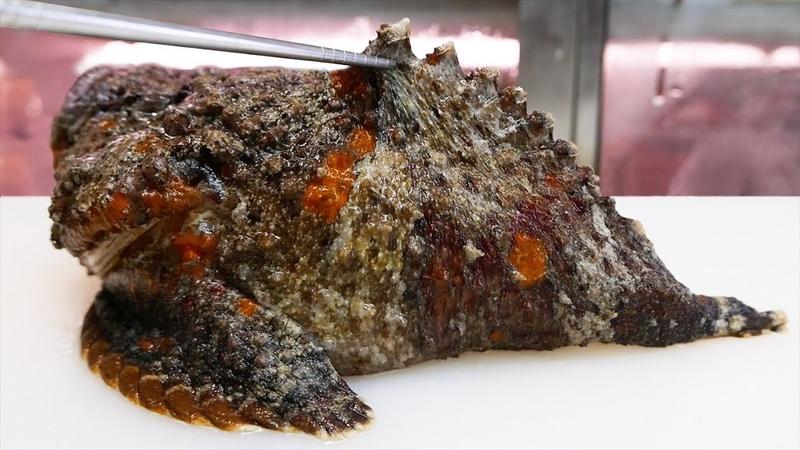 Japanese Street Food - STONEFISH Most Venomous Fish in the World Japan!
