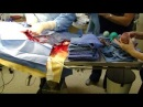 Canine bulldog c-section / caesarean section birth video. English Bulldog