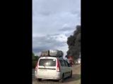 На трассе М-5 под Сызранью после ДТП загорелась машина: есть жертвы