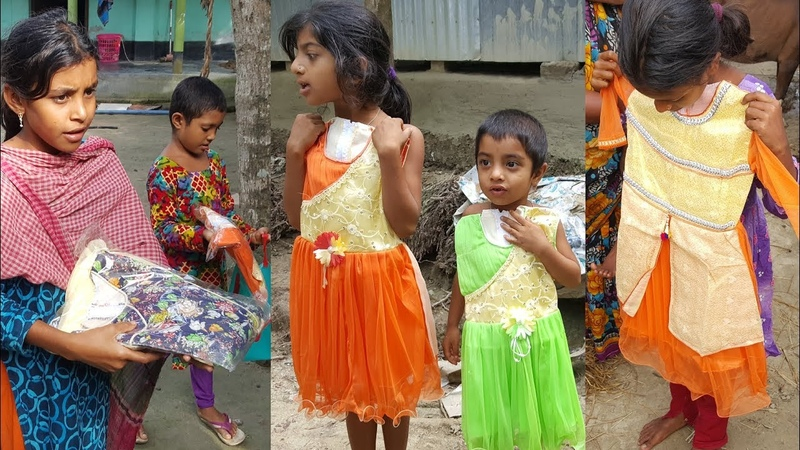 Surprised Eid Gifts For Village Kids Villagers - Dress, Vermicelli, Sugar Gifted For Most Family
