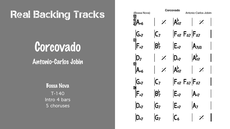 Corcovado - Real Jazz Backing Track - Jazz Play Along - Quiet Night Of Quiet Stars