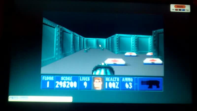 Wolfenstein 3d стрельба из Минигана
