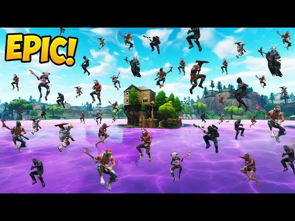 *100 PLAYERS* LAND NEW LOOT LAKE! - Fortnite Funny Fails and WTF Moments! 328