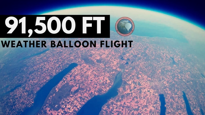GoPro Weather Balloon to Stratosphere over Finger Lakes in NY | High Altitude Balloon | OLHZN-6