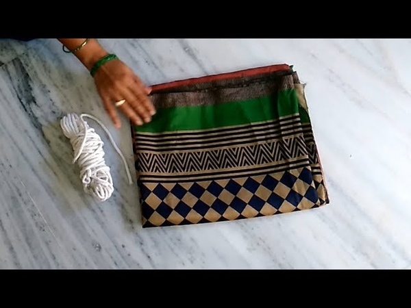 How To Make Door Mat From Old Saree The Best Out Of Waste From Old Saree