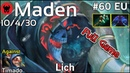 Support Maden Empire plays Lich Dota 2 Full Game 7.20