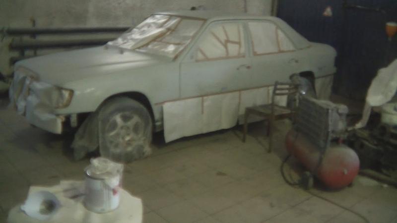 Мерседес w124 за 100к. Покраска машины. 12 серия.
