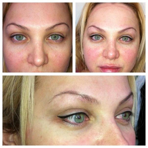 Перманентный макияж до и после фото