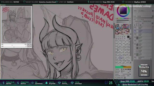 ✨ Drawing cute girls n chill✨ mic on 🔴