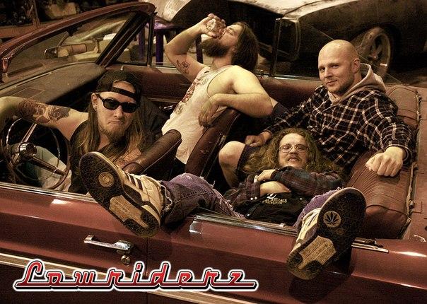 Lowriderz и их новый вокалист (вверху справа)