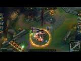 Leona quadra kill League of Legends