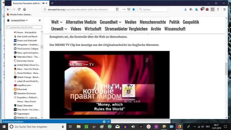 Russisches Fernsehen stellt die Rothschild-Familie bloß und fängt an, aufzuklären - Vereinigte Scharfschützen Bewegung