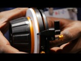 Newsshooter at IBC 2014 Bright Tangerine Revolvr Follow Focus and Black Hole lens donut