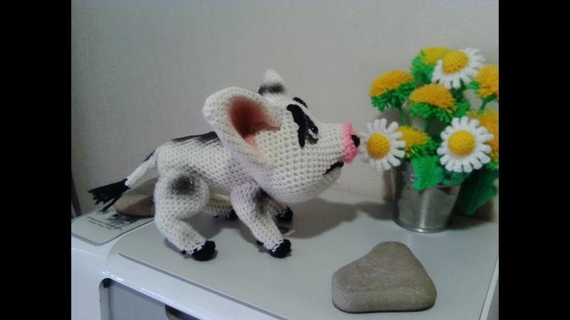 Грустный поросенок Пуа, ч.1. The sad pig Pua, р.1. Amigurumi. Crochet. Амигуруми.