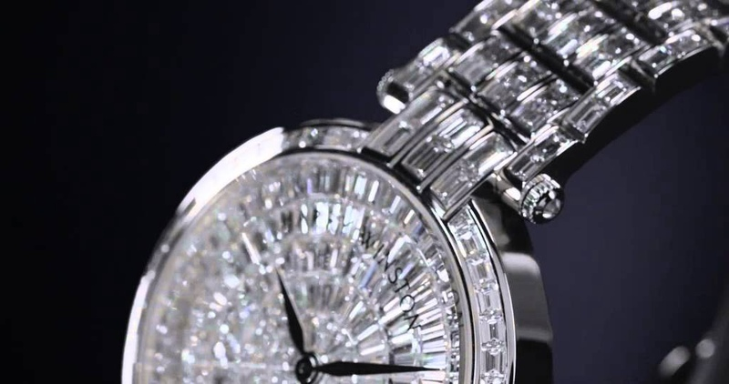 Premier Ladies 36mm with Baguette-Cut Diamonds