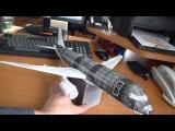 Самолет из бумаги Airbus A320 StarFlyer