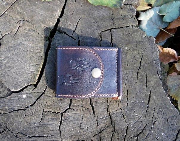 Небольшой кошелек из натуральной кожи для тех кто носит в нем только самое необходимое. Легко помеща… (6 фото)