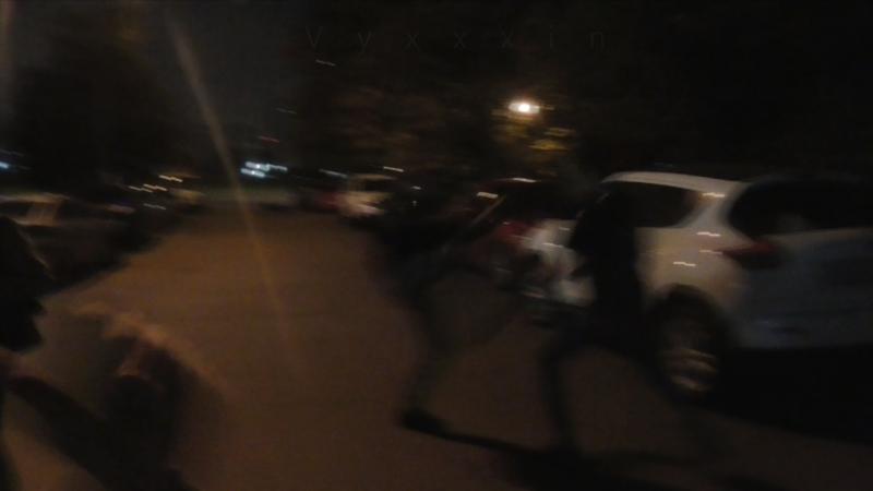 [Псв 15] Прогулка ночью под утро по улице Неглинная, драка в сквере поединок на Кантемировской улице пиздилка (драки, пиздилки)