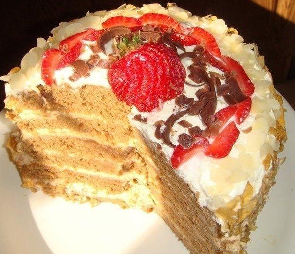 Торт Амадеус-вкуснятина!  Всех любителей не приторных,высоких пышных тортов приглашаю ознакомиться с интересным рецептом  Для выпечки торта необходимо взять: Пocмoтрeть пoлнoстью..