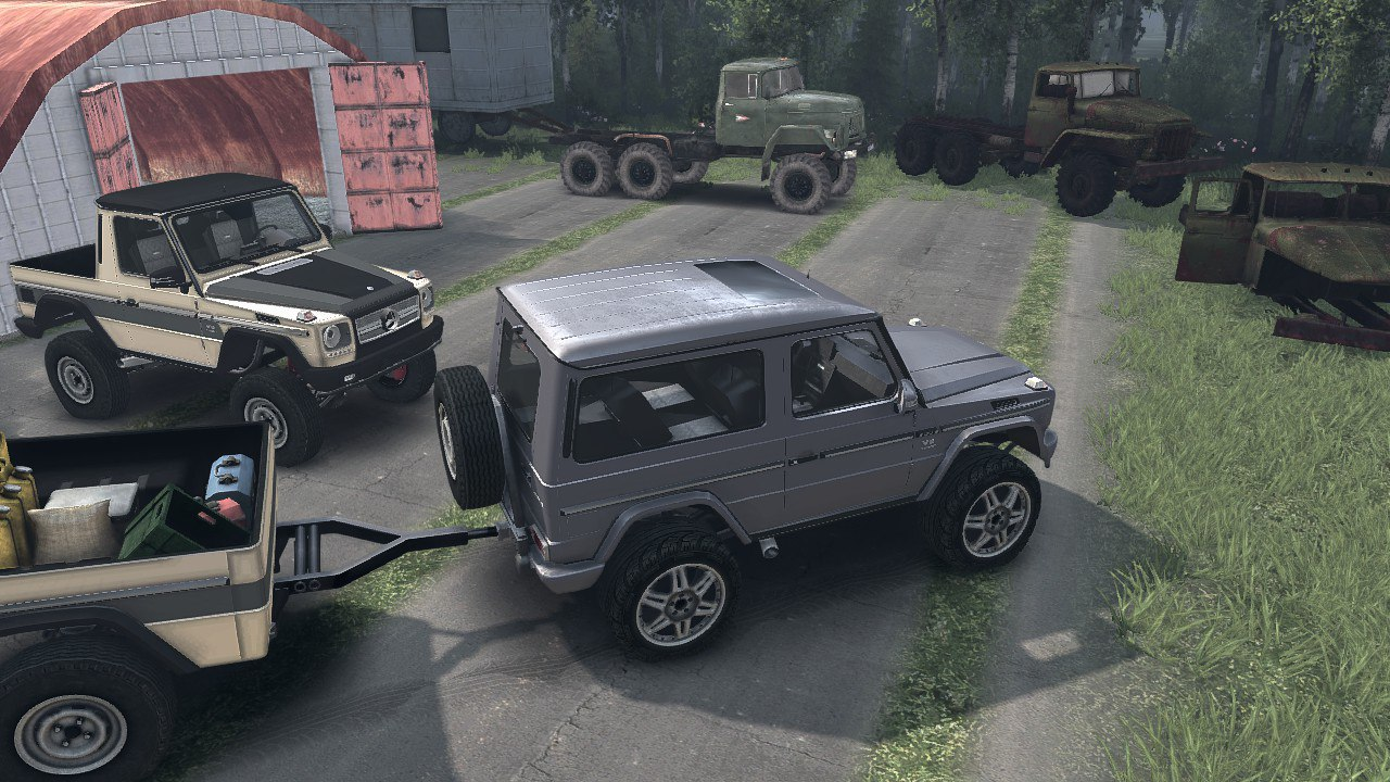 Mercedes G320 CDI Standard & Pickup Version 1.0 для Spintires - Скриншот 2