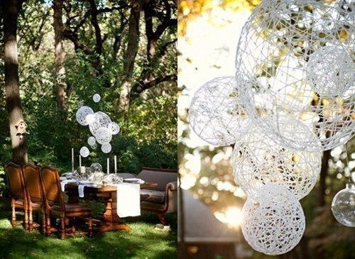 Воздушные шары из ниток