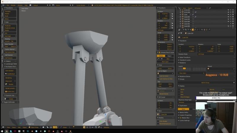 [RU EN] 3Dmodeling gameDev . Создаю игру для VR
