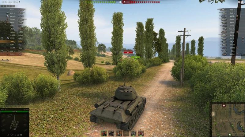 World of Tanks Из-зи катка : бой в котором мне даже не приходилось двигать танком