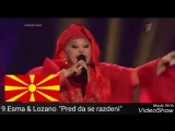 Северная Македония на Евровидении 1998-2018 мой топ 18