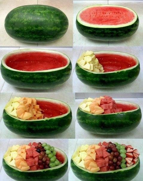 Как красиво подать фрукты (1 фото) - картинка