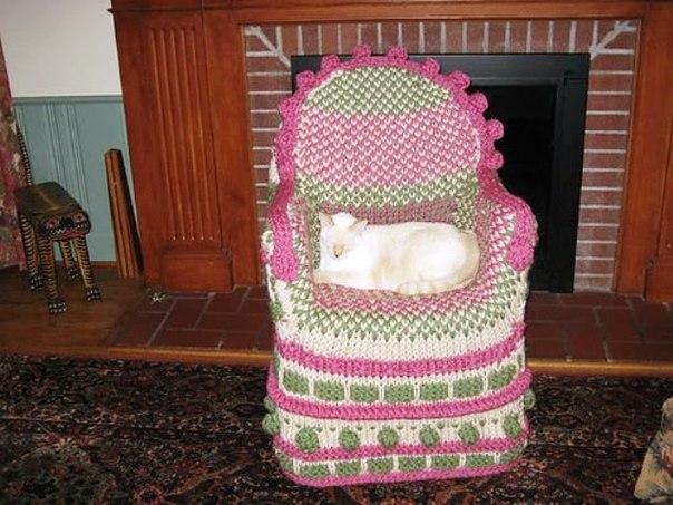针织的椅子套 - maomao - 我随心动