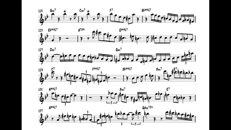 Scott Hamilton Plays All The Things you are 1993 solo transcription