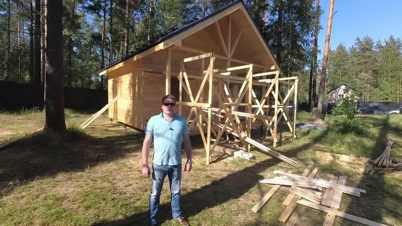 Строительство каркасного дома 6 на 8 метров в Ленинградской области