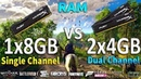 2x4Gb vs 1x8Gb RAM Test in 8 Games