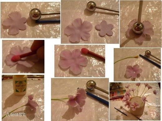 Как сделать цветы холодного фарфора