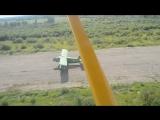 посадка самолета AН-2 reg. № RF-00640 (вид из кабины пилота самолета Aeroprakt A-22, Боровичи, аэродром