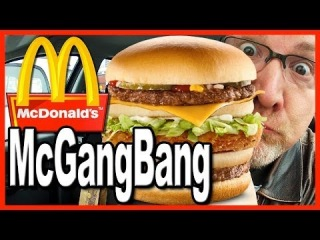 McDonald's ★ Secret Menu Item ★ McGangBang Sandwich Food Review