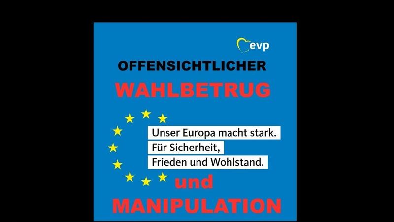 Manipulation der Wähler ? Europawahlprogramm der EVP - CDU/CSU