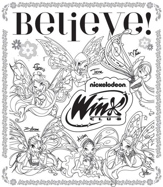 winxgroup Actividades y dibujos para colorear winx club believix