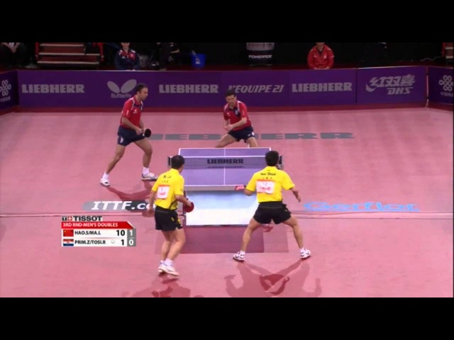 WTTC 2013 Highlights: Ma Lin/Hao Shuai vs Zoran Primorac/Roko Tosic (Round 2)
