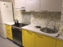 Народ, подскажите, какой фартук(цвет, фактура) просится на эту кухню? Пока там обои…