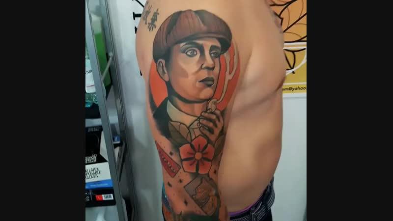 Peaky Blinders tattoo - artist @inkbyadam